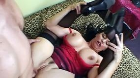 Big-tittied milf gets wet with her boyfriend