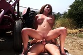 Brunette fucked outdoors