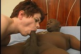 Horny amateur bitch takes big black cock