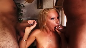 Hot Cameron James is on her knees sucking dicks