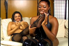 Black lesbians with foot fetish lesbians lick each other