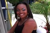 Ebony whore takes huge co...
