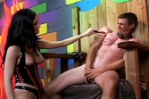 Hot dominatrix whore  inflicts punishment Leah Wilde Is A Dominatrix