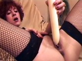 Redhead sucking and fucking dildo La Quarantaine Se Dechaine