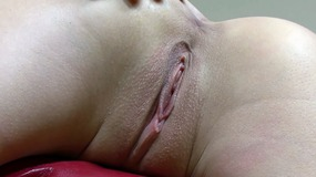 Horny slut masturbating solo