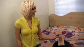 lily labeau strips down and finger.