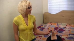 Lily Labeau strips down and finger fucks