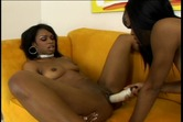 Sexy Lacey Duvalle does a lesbian scene with her black girlfriend