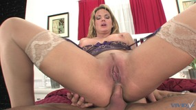 Slut with nice tits deep throats and get anal penetration at home