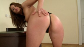 Magnificent brunette getting her tight asshole drilled hardcore