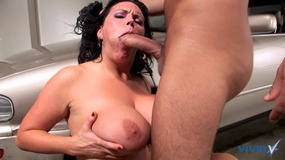 milf, one, on, one, huge, tits, big, knockers, brunette, titty, fucking, on, car, garage, big, ass, doggy, curvy, big, dick, mom, cougar