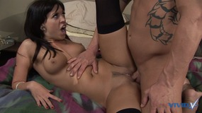 Big cock dude drills the pussies on these two gorgeous cock sucking bi sluts