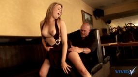 cute blonde girl with shaved cunt gets drilled.