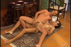 Randy cock sucking man takes dick in his ass and gets facial cumshot