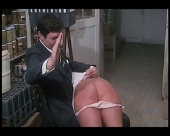 Vintage woman in pink suit gets her panties pulled down & spanked then fucked