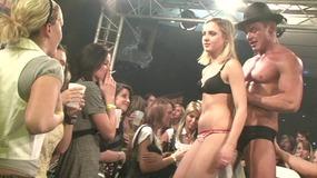 Muscular striptease performer made all girls...