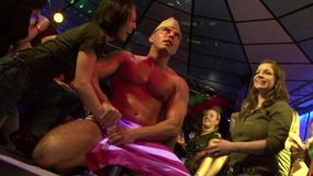 Muscled striptease performers  makes inebriated  bitches crazy