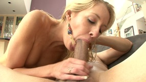 Horny stud loves pumping a blonde babe hard from behind