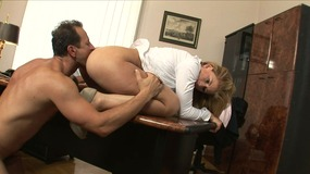 blonde, milf, cougar, office, fuck, blowjob, cock, sucking, deepthroat, pussy, licking, rimming, doggystyle, dick, riding, cumshot