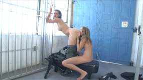 Prisoner and officer can't keep their naughty hands off of each other