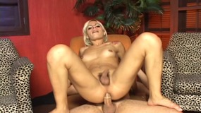 Sexy shemale sucks and fucks a young stud