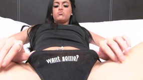 Stacey Lacey does not wear any panties to make her cum
