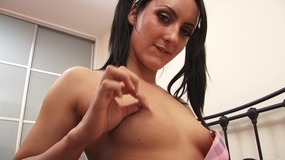 Chloe little princess gets aroused by touching the vibrator on her clitoris
