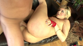 Slutty look blonde needs to get really nice fucking on the couch