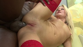 Blonde slut black stud to fuck her at...