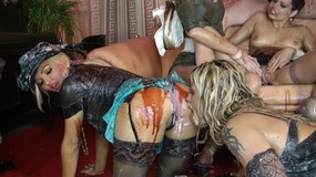 Lesbian orgy party with lots of pretty sluts willing to do anything u desire