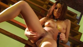 Ann Marie Rios enjoys masturbating with toys