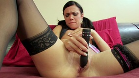 Mandy more gets crazy and nasty with her old toy