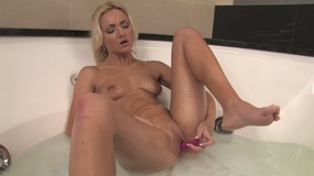 bathtub, rubbing, masturbating, masturbation, masturbate, shaved, pussy, fingering, solo, blonde, adult, toys, dildo, clit, rubbing, pussy, rubbing, close, up
