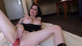 brunette,,big,tits,,shaved,pussy,,close,up,,high,heels,,tattoo,,dildo,,busty,,emo,,toy,,masturbate,,solo,girl,,amateur