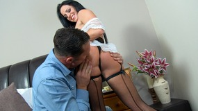 Elegant maid get undressed and bends...