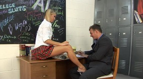 horny student only has sex on her mind.
