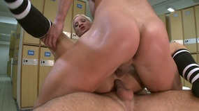 blonde,,cowgirl,,mmf,,cock,sucking,,spit,roast,,doggy,style,,natural,tits,,double,penetration,,ass,fucking,,missionary,,bald,pussy