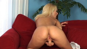 Great Looking Blonde Plays With Her Toy