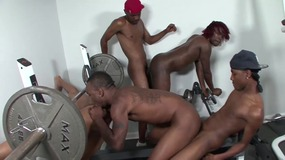 group,sex,,ebony,on,black,,training,,room,,gym,,doggy,,blowjob,,hair,pulling,,reverse,cowgirl,,butt,licking,,spunk,shots