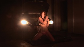 Elizabeth darling showcases her masturbation prowess with her car providing the lighting