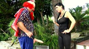 The clown's big dick