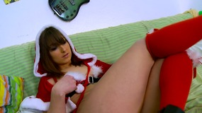 striptease,,enjoying,solo,time,,solo,,no,toys,,no,dildo,,amateur,,clean,skin,,babe,,brunette,,santa,,small,tits