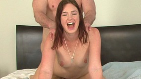 Babe has her sex slave with her while she gets fucked by another man