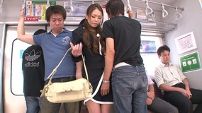 Well-favoured pretty japanese slut is gangbanged hard with dildos and dicks