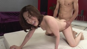 Fantastic smart japanese woman feet licked and cunt fucked with couple of dicks...