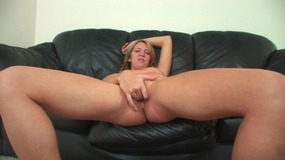 Sweet blonde gets her pussy filled up with sperm from black dick