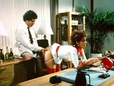 Retro secretary gets her pussy slammed in office