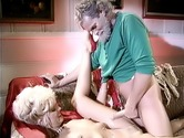 Older dude fucking hot retro slut