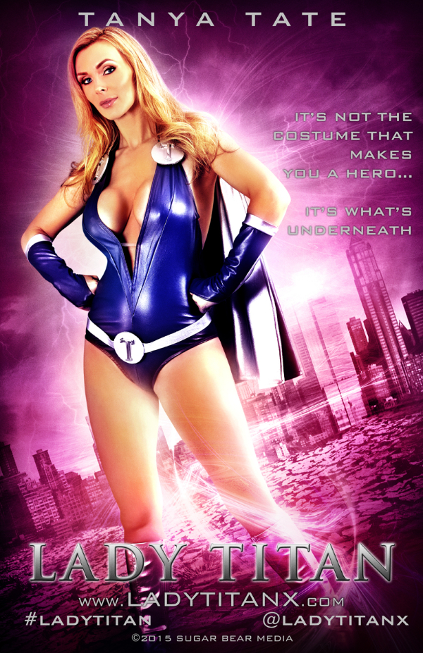 19848-11x17 Tanya Tate as Lady Titan Movie Style Poster-Tanya Tate